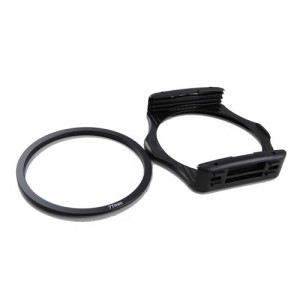MENGS® 77mm Metal Adapter Ring + Plastic Filter Holder for Cokin P Series