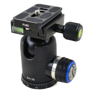 MENGS® BH-36 1/4 Inch & 3/8 Inch Mounting Screw Camera Tripod Ball Head With Quick Release Plate