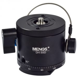 MENGS® DH-55D Camera Panoramic Tripod Head Indexing Ball Head 10 Different Degree Stop Intervals (5°- 90°)