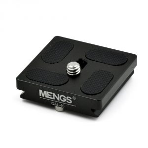 MENGS® QAL-40 Quick Release Plate With 1/4″ Camera Screw Solid Aluminium Suit For T3 / T5 / TT / FPH61G Etc Ball Head