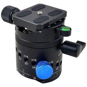 MENGS® DH-55 1/4 Inch & 3/8 Inch Mounting Screw Camera Tripod Ball Head With Quick Release Plate