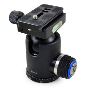 MENGS® BH-44PAN 1/4 Inch & 3/8 Inch Mounting Screw Camera Tripod Ball Head With Quick Release Plate